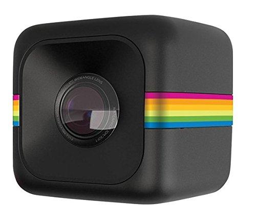 Polaroid Cube+ 1440p Mini Lifestyle Action Camera con Wi-Fi e Stabilizzatore d'Immagine, Nero
