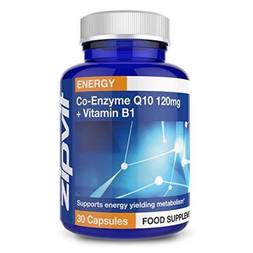 CoQ10 120 mg + Vitamina B1 | 30 Capsule di Coenzima Q10 | Salute cardivascolare