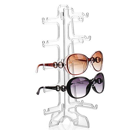 Exhibición acrílico de lentes para 5 gafas o gafas de sol Organizador Expositor de gafas de sol