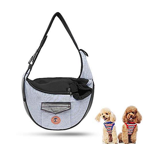 Zuukoo Tragetücher für Hunde, Single-Schulter Tragetaschen für 5.5kg Kleine Haustiere Welpen-Katzenhund zum Wandern, Radfahren, Reisen und Anderen Outdoor-Aktivitäten.