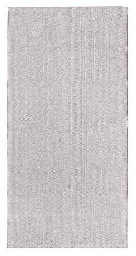 andiamo Mano Web Tappeto Milo 100% Cotone Lavabile 60x 120cm Tinta Unita, Cotone, Grigio, 60 x...