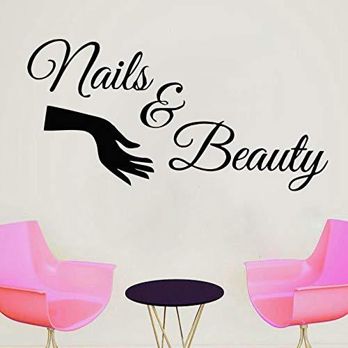 Nail Salon Decalcomania per finestra Adesivo in vinile Cita chiodi Nail art Polish Manicure Pedicure...