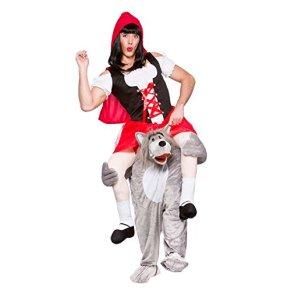 Wicked - Disfraz de lobo y Caperucita Roja para adulto (talla única)