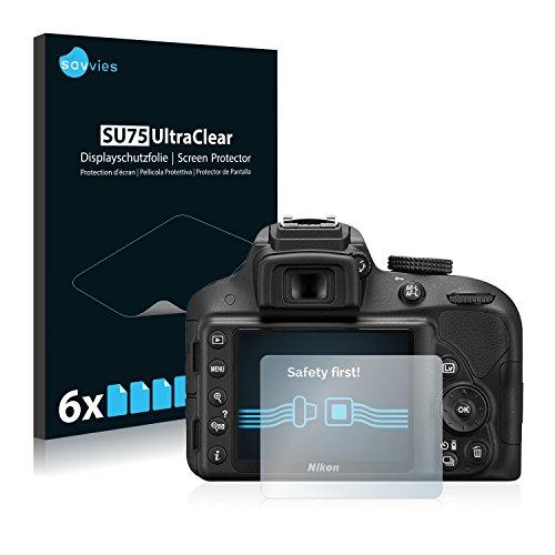 savvies 6-Pezzi Pellicola Protettiva Compatibile con Nikon D3300 Protezione Schermo Trasparente