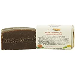 Funky Soap Shampoo All' Hennè Barra, 100% Naturale Artigianale, 1 Saponetta 120gr