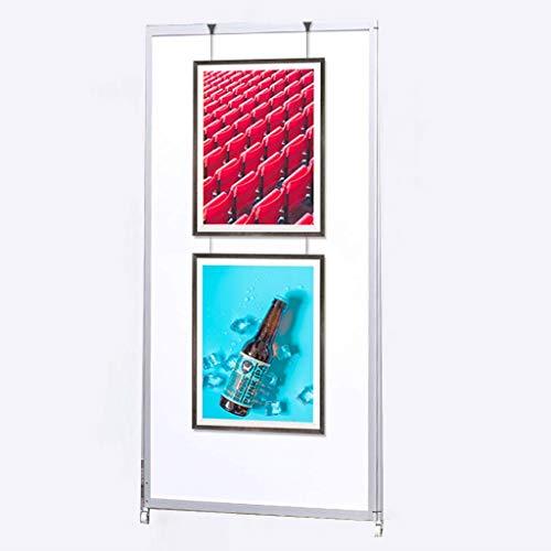 ALFYMX Espositore da Pavimento Cornice per Poster in Alluminio, mensola per segnaletica, Lavagna per...