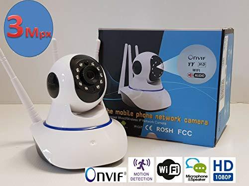 Telecamera IP WIFI da 3 mpx HD 1080P Pan/Tilt motorizzata PTZ rilevamento movim