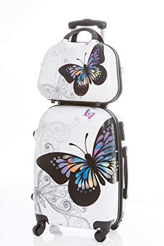 Maleta Grande Mariposas + Neceser