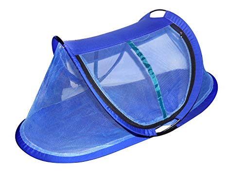 Urban Traders Foldable Portable Travel Bed Crib/Baby Cots in Mosquito Net with Soft Pillow (Blue)