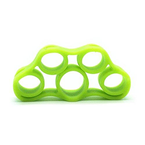 Aubess - Agarre de mano para dedos - Entrenador de fuerza para agarre de golf, dedo de guitarra, ejercicio de antebrazo, ciclismo, escalada, prevención y rehabiente., verde