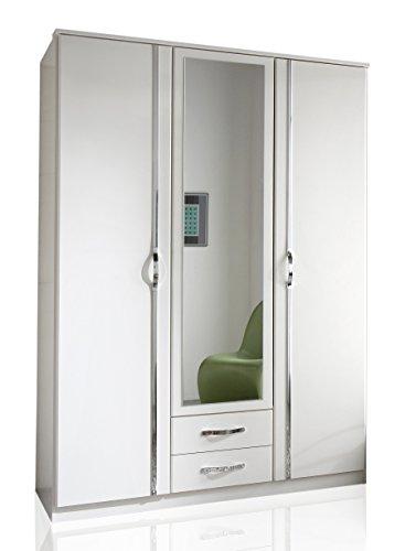 Wimex 78484 Kleiderschrank/ Drehtürenschrank Duo, 3 Türen, 2 Schubladen, (B/H/T) 135 x 198 x 58 cm, Weiß