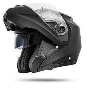ATO Moto Montreal Schwarz matt Größe S M L XL Klapphelm mit Doppelvisier System und der neusten Sicherheitsnorm ECE 2205 9