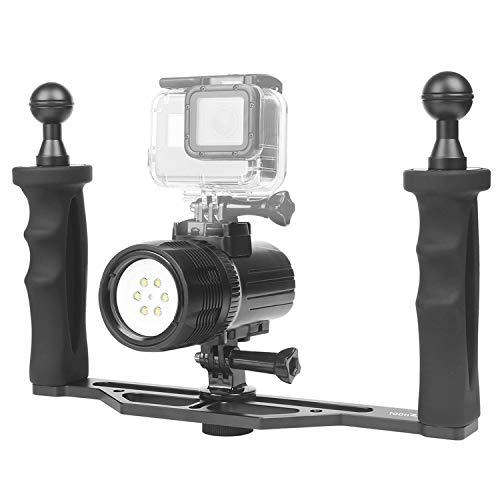 SHOOT Immersione Luce Torcia con Stabilizzatori per GoPro HERO 8/7/6/5/4/3+(1000LM, impermeabile 60 m, CREE XM-L R3, grandangolo 120 °, temperatura colore 6500 K, batteria ricaricabile 2000 mAh)