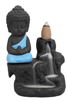 Quemador de incienso de reflujo, de cerámica, con 10 varillas de incienso