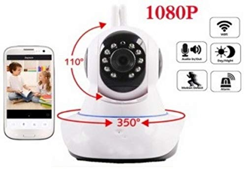 Global Craft Wireless HD IP WiFi CCTV [Watch Online Demo Right Now] Indoor Security Camera (Support Upto 128 GB SD Card), Model 43870