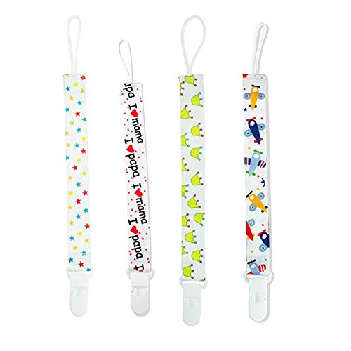 SYGA Pack of 4 Baby Pacifier teether Belt Clip