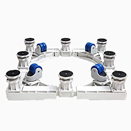 DRAGDZ Base per Lavatrice Congelatore,Piedistallo per Lavatrice,Con Ruote in Gomma 4 × 2 e 8 Gambe...