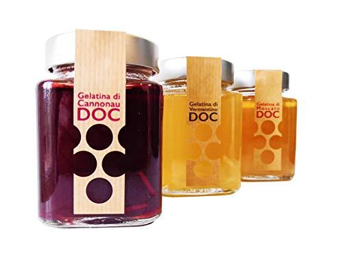 Gelatine di Vino di Sardegna DOC | Senza coloranti o aromi artificiali (Moscato di Sardegna DOC, 3 vasetti)