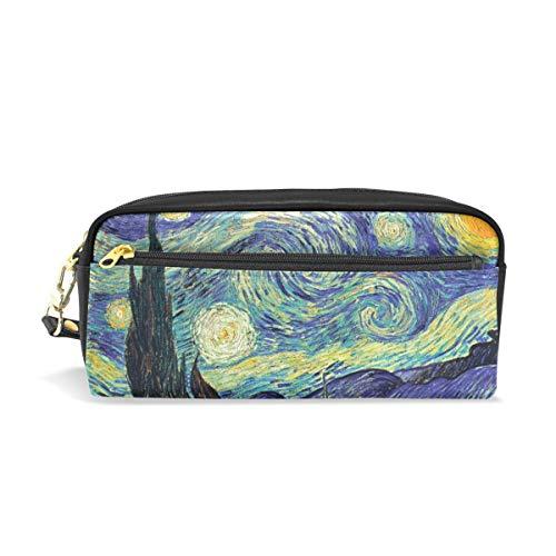 Astuccio di grande capacità, per penne e penne, a portafoglio, con disegno di Van Gogh,...