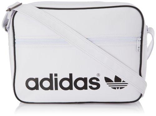 7f516c77cd Adidas Originals AC Airliner, borsa a tracolla bianca, taglia unica ...