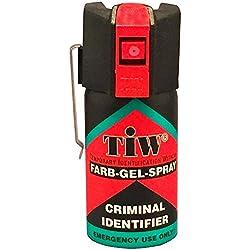 Armas de defensa personal Tiw Farb-Gel 40 Ml spray pimienta