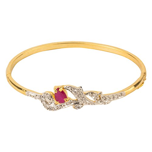 YouBella Jewellery American Diamond Gold Plated Bangle Bracelet For Women and Girls