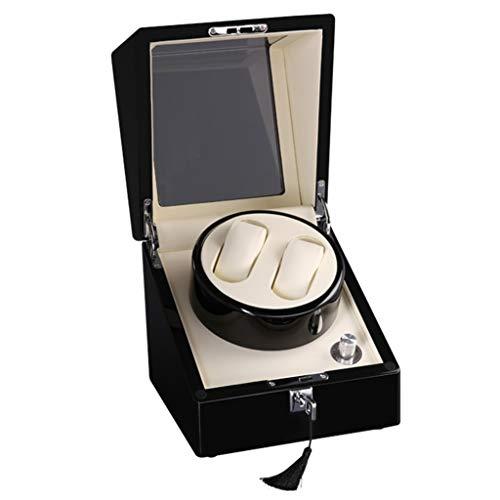 Yxx max Automatico Scatola Porta Orologio Watch Winder, Automatic 2 + 0 Shake Table Orologi Meccanici Scatole di avvolgimento Scatola di Raccolta Motore Regolabile a Cinque velocità Ultra silenziosa