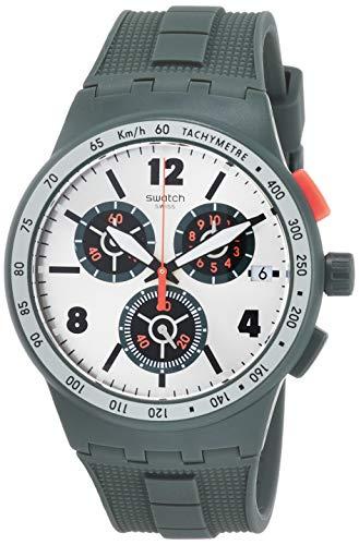 Swatch Orologio Cronografo Quarzo Unisex Adulto con Cinturino in Silicone SUSG405