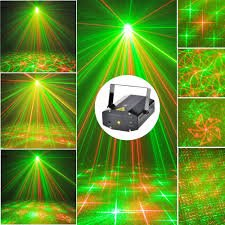 Prop It Up Multi Pattern 6 Design Sound Activated Laser Mini Disco Light Projector Stage Lighting for Party KTV