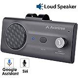 Avantree CK11 Kit Mains Libres Bluetooth Voiture, Haut-parleur de qualité, Supporte Siri et Google Assistant, Détecteur de mouvement, Bouton de volume, Haut-parleur sans fil avec clip pour pare-soleil