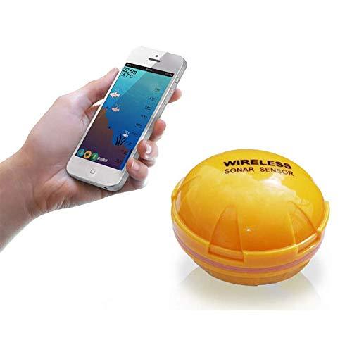 MBEN Fish Finder, Fish Finder Wireless, Cellulare Bluetooth Intelligente Visual HD fishfinder Sonar, iOS Android App ecoscandaglio Sonar