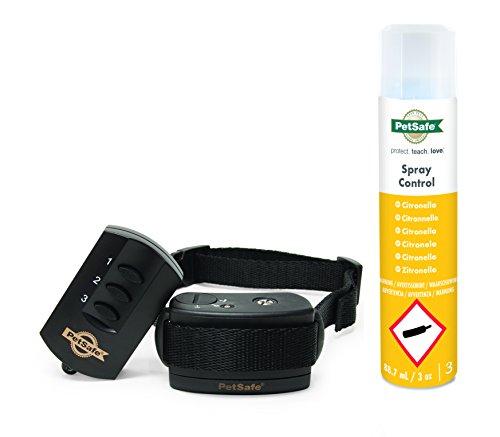 PetSafe Hunde Spray Erziehungshalsband mit Fernbedienung, 85m Radius, umweltfreundliches Zitronella Spray, Hunde 3,6kg+
