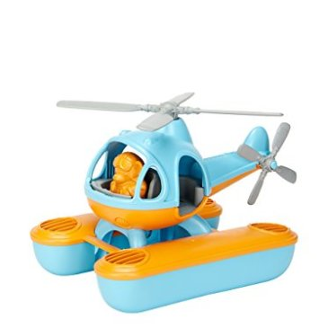Green Toys – 66075 – Véhicule Miniature – Modèle Simple – Seacopter Blue Cabin