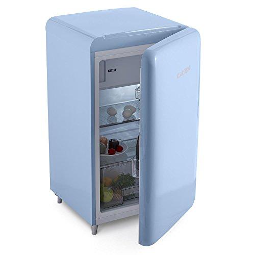 Klarstein Popart Blue • Frigorifero • Congelatore • Retroilluminazione Anni '50 • Volume da...