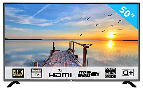 HKC 50F1: Televisore 127 cm (50 pollici) Smart-TV (4K Ultra HD, Triple Tuner, CI+, HDMI, lettore...