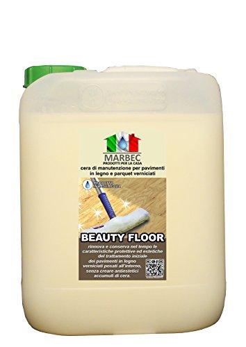 Marbec - BEAUTY FLOOR 5LT | Cera di manutenzione e protezione per pavimenti in legno verniciati