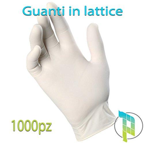 Palucart Guanti lattice monouso 1000 pz taglia L guanti in lattice 100 pezzi x 10 confezioni...