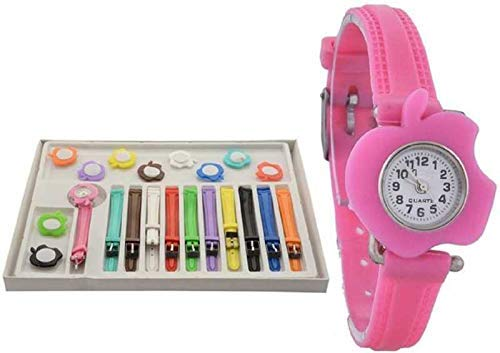 NEO VICTORY Analogue Multi-Colour Dial Girl's Watch with 11 Interchangeable Dial and 11 Strap 0100