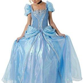 Princesas Disney - Disfraz de Cenicienta Super Premium para mujer, talla L adulto (Rubie's 810247-L)