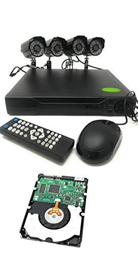 Kit Videosorveglianza Dvr 4 Canali + 4 Telecamere Infrarossi + Hard Disk 500 Gb