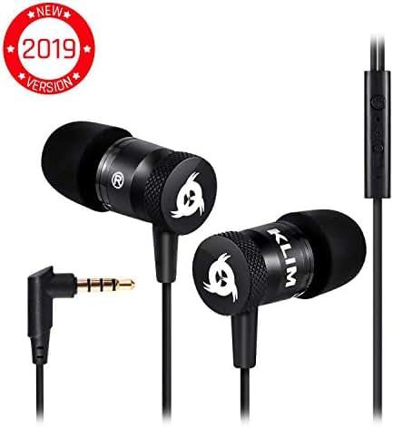 ⭐️KLIM™ Fusion Audio Kopfhörer - Langlebig + 5 Jahre Garantie - Innovativ: In-Ear-Kopfhörer mit Memory Foam - Neue 2019 Version - Schwarz