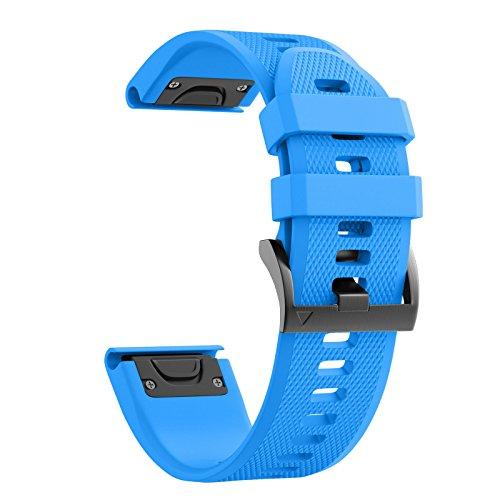 NotoCity Cinturino per Garmin Fenix 5/Fenix 5 Plus/Garmin Instinct/Fenix 6/Fenix 6 PRO/Forerunner 935, Easy Fit 22mm Cinturino di Ricambio in Silicone,Quick-Fit, Colori Multipli