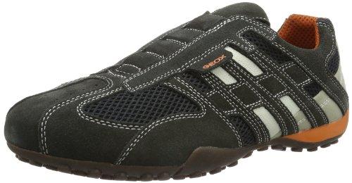 Geox UOMO SNAKE L Herren Sneakers, Grau (DK GREY/OFF WHITEC1300), 43