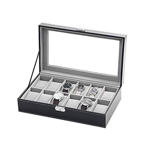 Guarda la scatola Scatola da 12 griglie for orologi, supporti for cuscini, coperchio in vetro,...