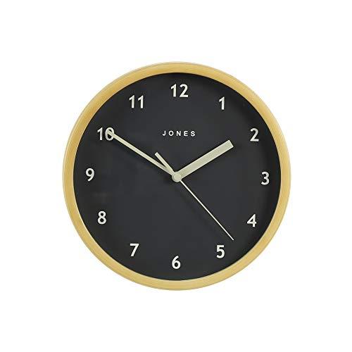 JONES CLOCKS Spin, Piccolo Orologio da Parete Rotondo Rotondo in Quarzo Scandi Design Minimalista...