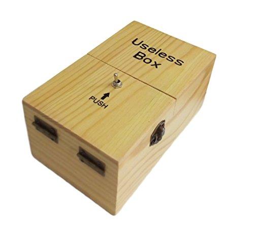 Ducomi® Useless Box – Scatola in Legno Interattiva con Pulsanti e Viti