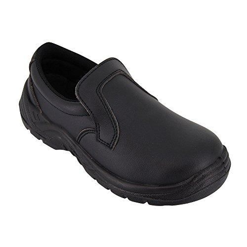 Zapatos Para Cocina, Negro, de Trabajo, Uso agroalimentario, con Funda Protectora ISO20346, Disponible EN Varias Tallas Disponibles - 37