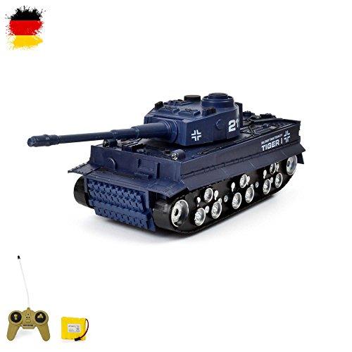 GERMAN TIGER I - RC R/C mini ferngesteuerter Panzer, Tank, Kettenfahrzeug, Schuss, Sound, Licht, Neu, 1:72, Schusssimulation Sound, Beleuchtung, Neu