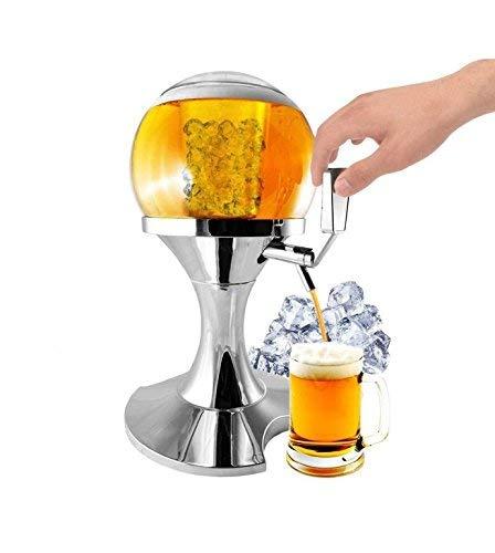 PRICEKILLER - Spillatore birra da 3,5L con vano centrale ghiaccio Distributore dispenser refrigerato...