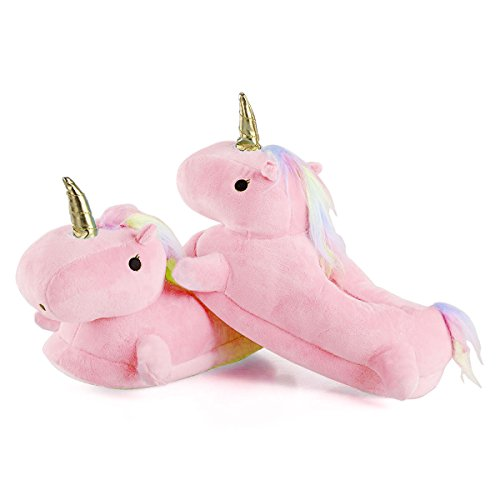 Zapatillas de estar por casa unicornio felpa suave - Zapatillas estar por casa nino ...